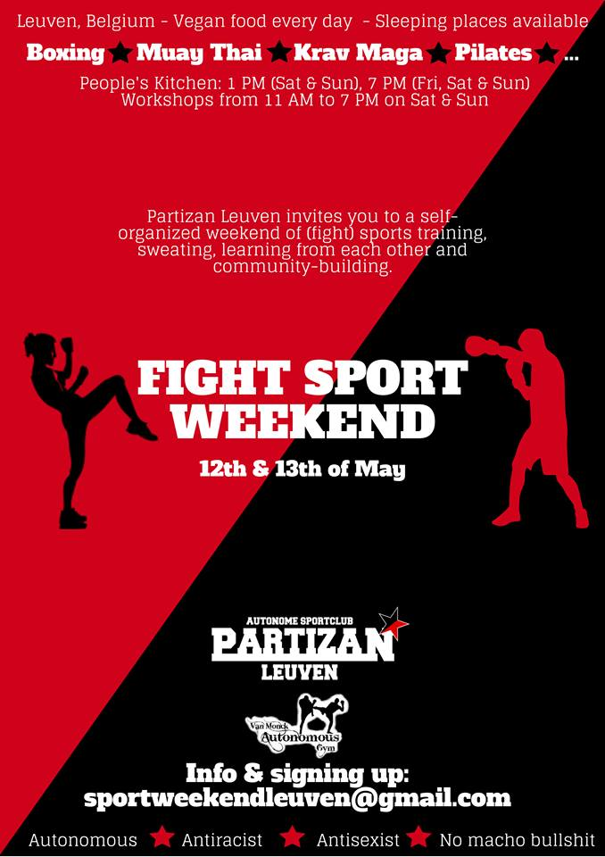 poster fight sport weekend